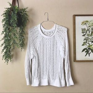 Lou & Grey White Knit Sweater